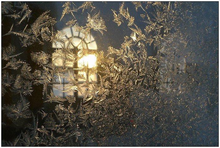 зима, окно, узоры, Григорий Иващенко