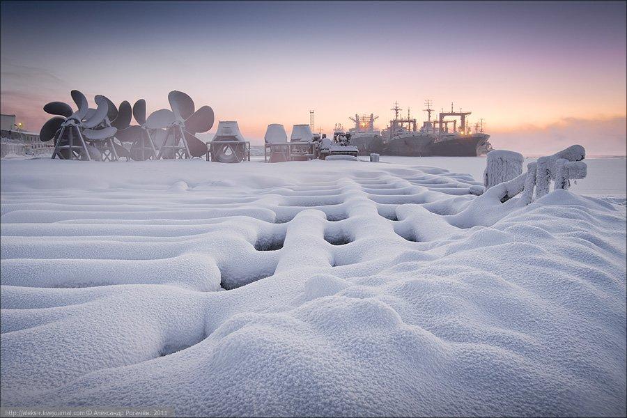 мурманск,январь,мороз, Александр Рогачёв