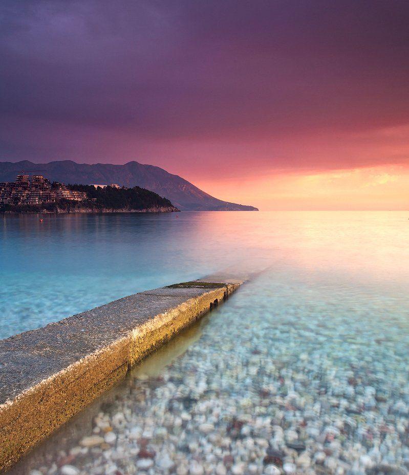 будва, черногория, закат, море, Alexander Martynov