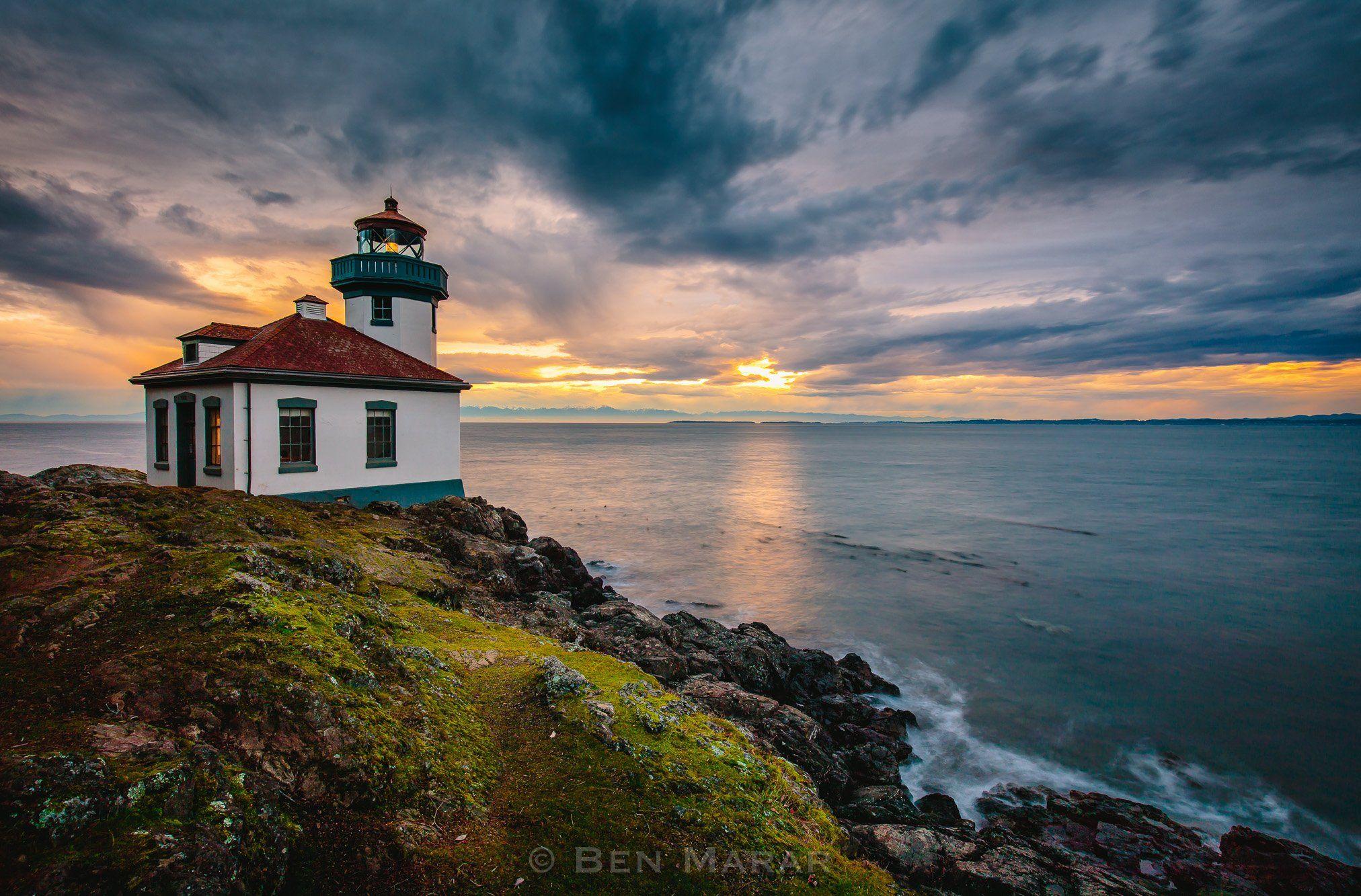 landscape, ocean, pacific, washington, canon, lighthouse, Ben Marar