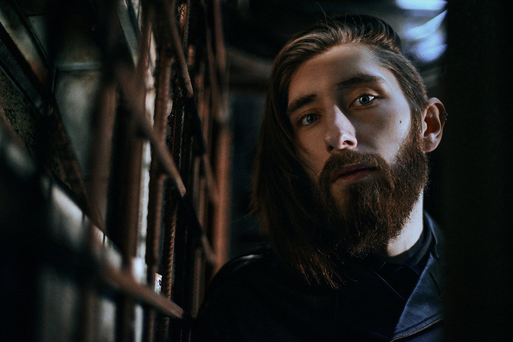 portrait, colour, eyes, man, beard, Павел Соколов