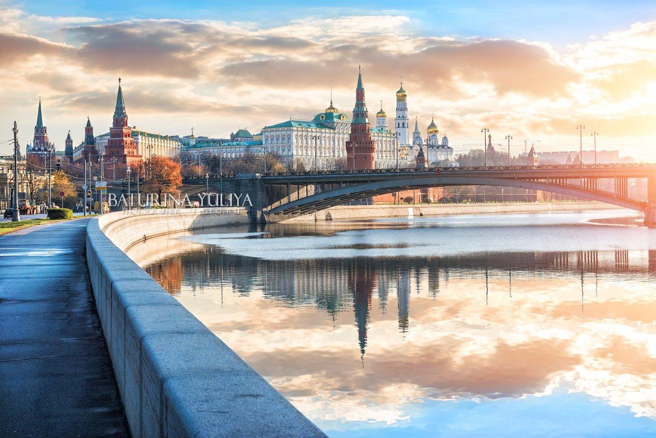 москва, кремль, московский кремль, москва-река, набережная, утро, рассвет, Юлия Батурина