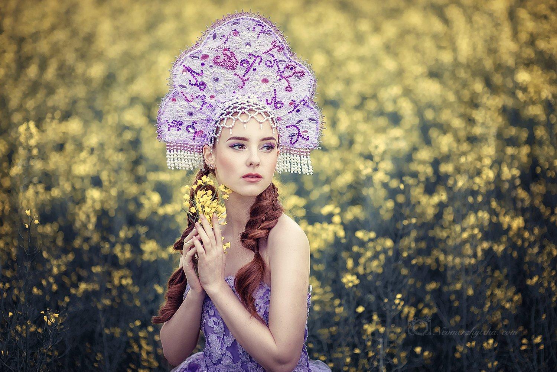 кокошник, фешн, сказка, красавица, Невмержицкая Татьяна