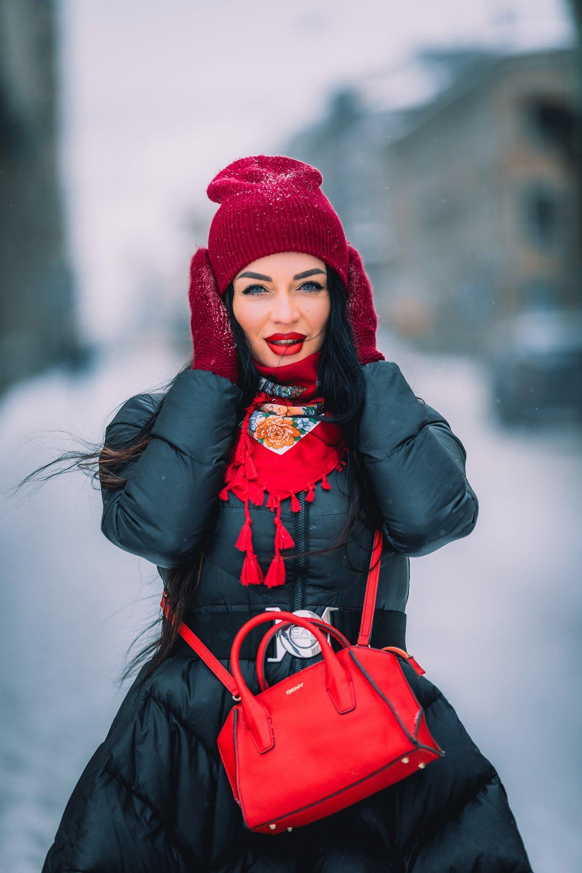 #portrait, #girl, #girls, #snow, #winter, #city, #портрет, #девушка, #город, #зима, #снег, Andrei Mikhailov