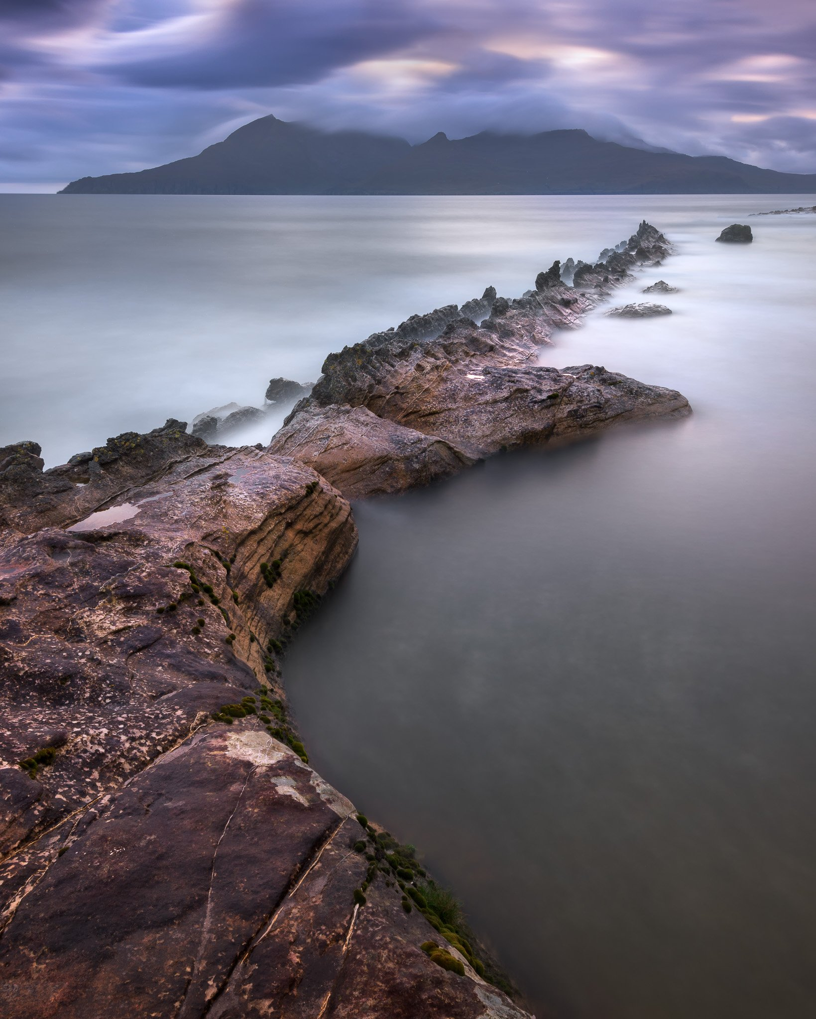 bay, beach, beautiful, blue, cliff, clouds, coast, coastal, dusk, eigg, europe, evening, golden, highlands, island, isle, kingdom, landscape, lochaber, nature, ocean, overcast, pebbles, rain, rainy, rhum, rock, rocky, rum, scenic, scotland, scottish, sea,, anshar