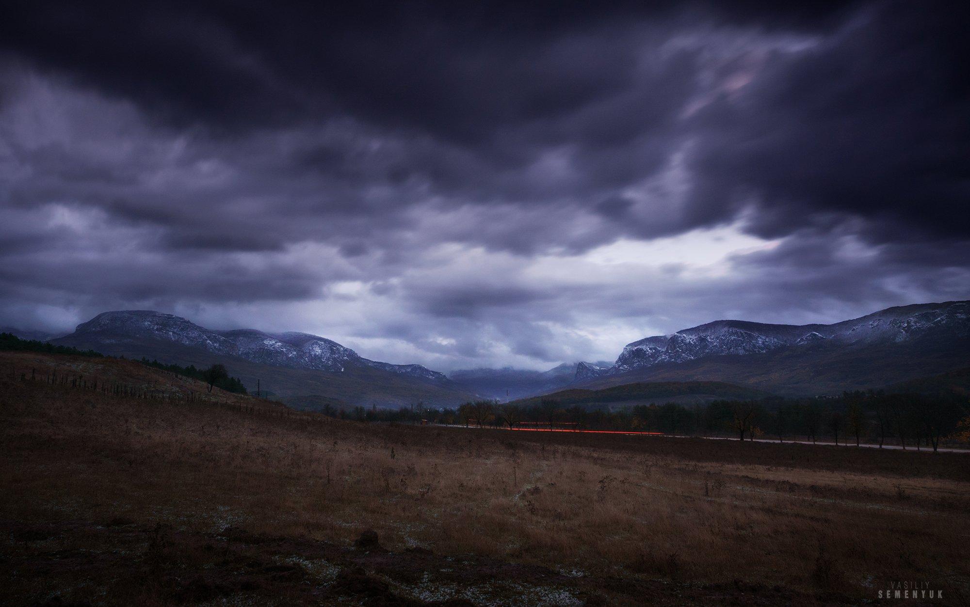 крым, зима, бойка, аромат, седам-кая, облачность, атмосфера, сумерки, снег., Семенюк Василий