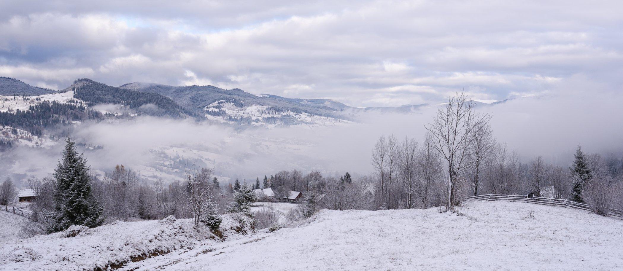 горы, осень, снег, Вьюшкин Игорь