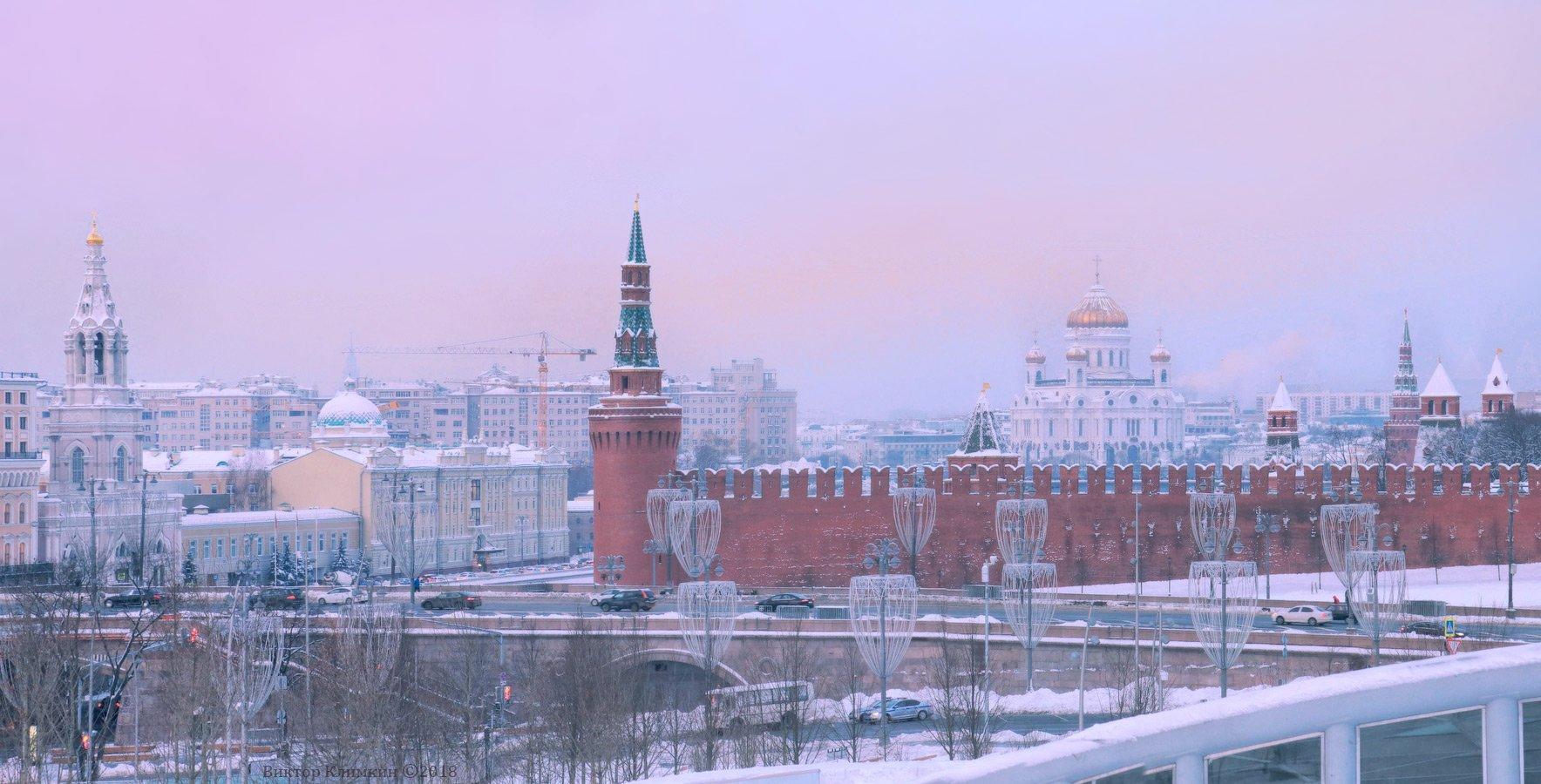 москва, кремль, утро, рассвет, храм, Виктор Климкин