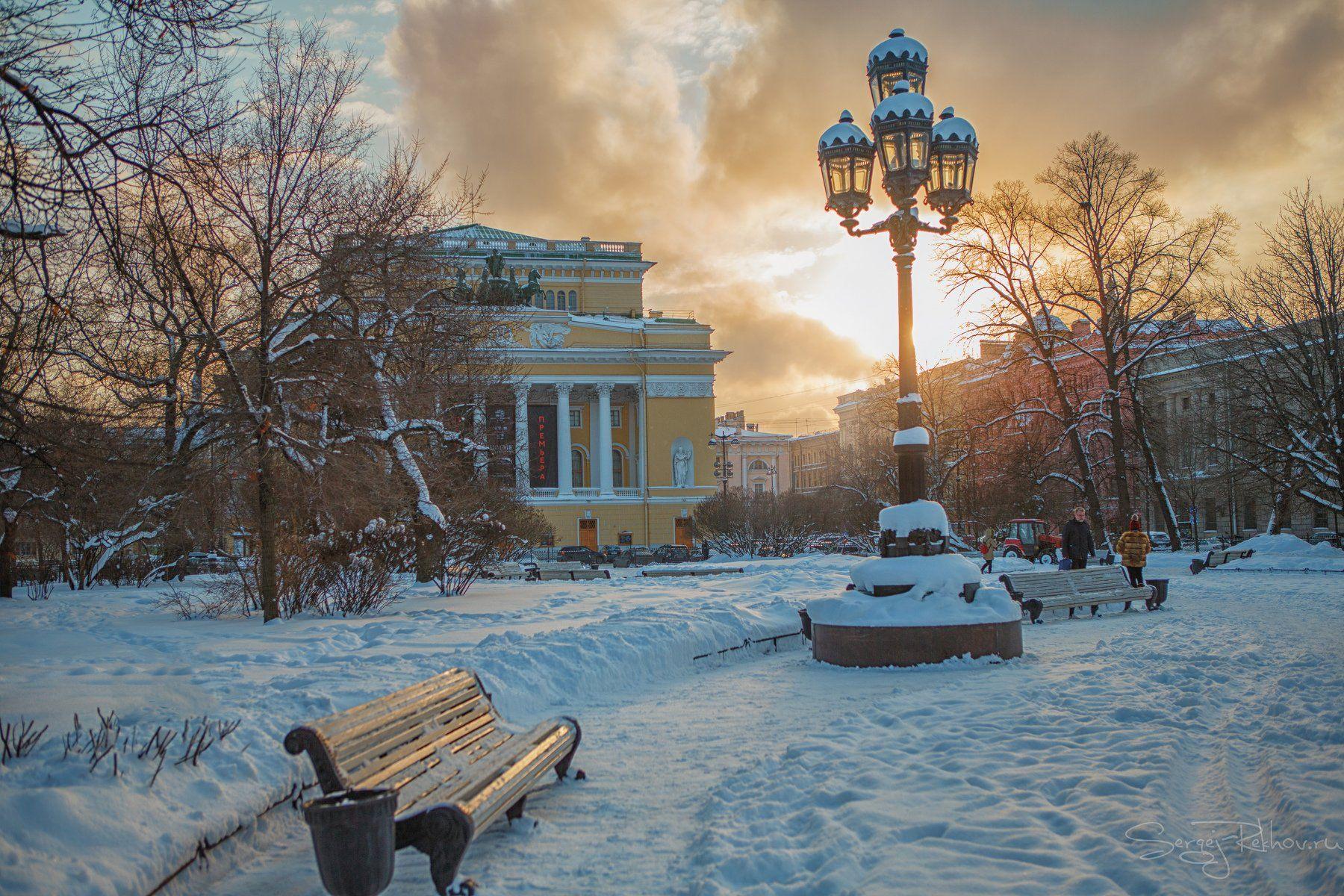 питер, санкт-петербург, зима, вечер, закат, мороз, рехов, сергейрехов, rekhov, sergejrekhov, Сергей Рехов