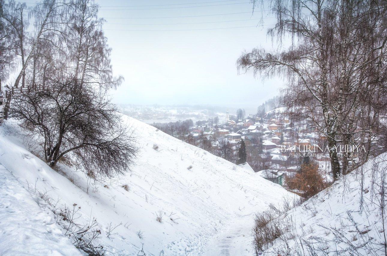 плес, плёс, город, зима, соборная гора, Юлия Батурина