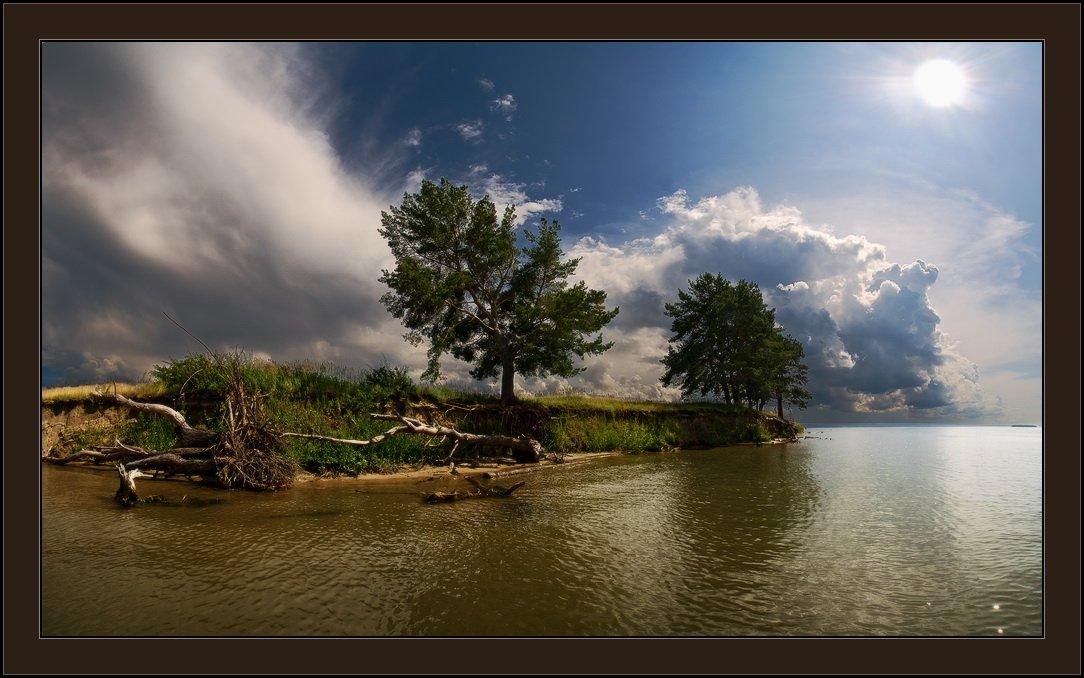лето, полдень, облака, солнце, море, остров, Виталий из Н-ска