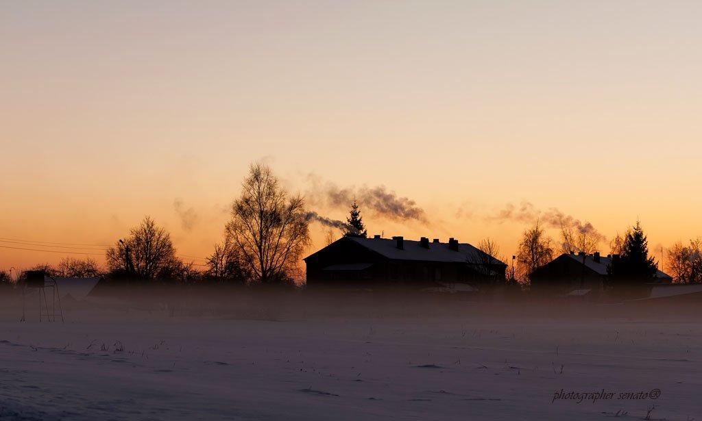 метель,lithuania,evening,snow,after sunset,smoke,fog,mist, senato®