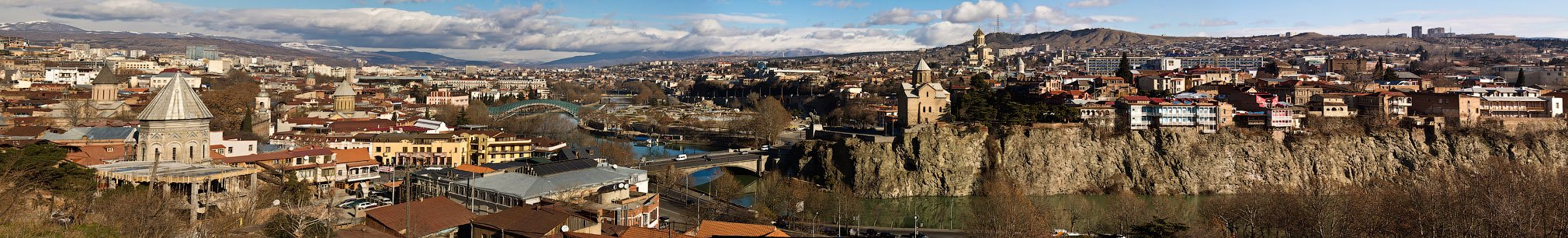 грузия, тбилиси, панорама, Артем Верхогляд
