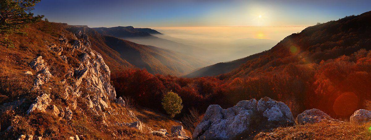 крым, октябрь, горы, рассвет, Михаил Псарёв