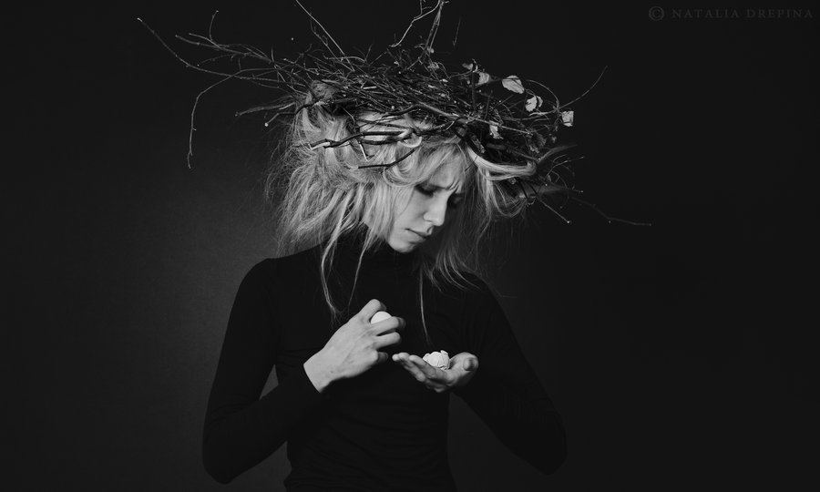 death,nest,egg,dark, Natalia Drepina