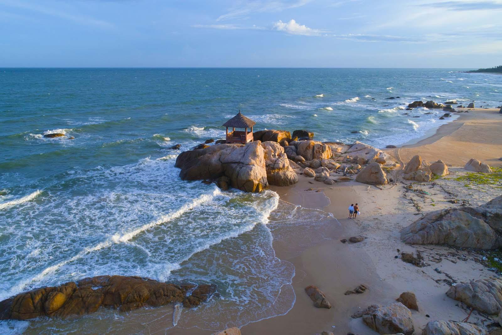 Вьетнам, Ке Га, скалы, море, aerial, Борис Резванцев
