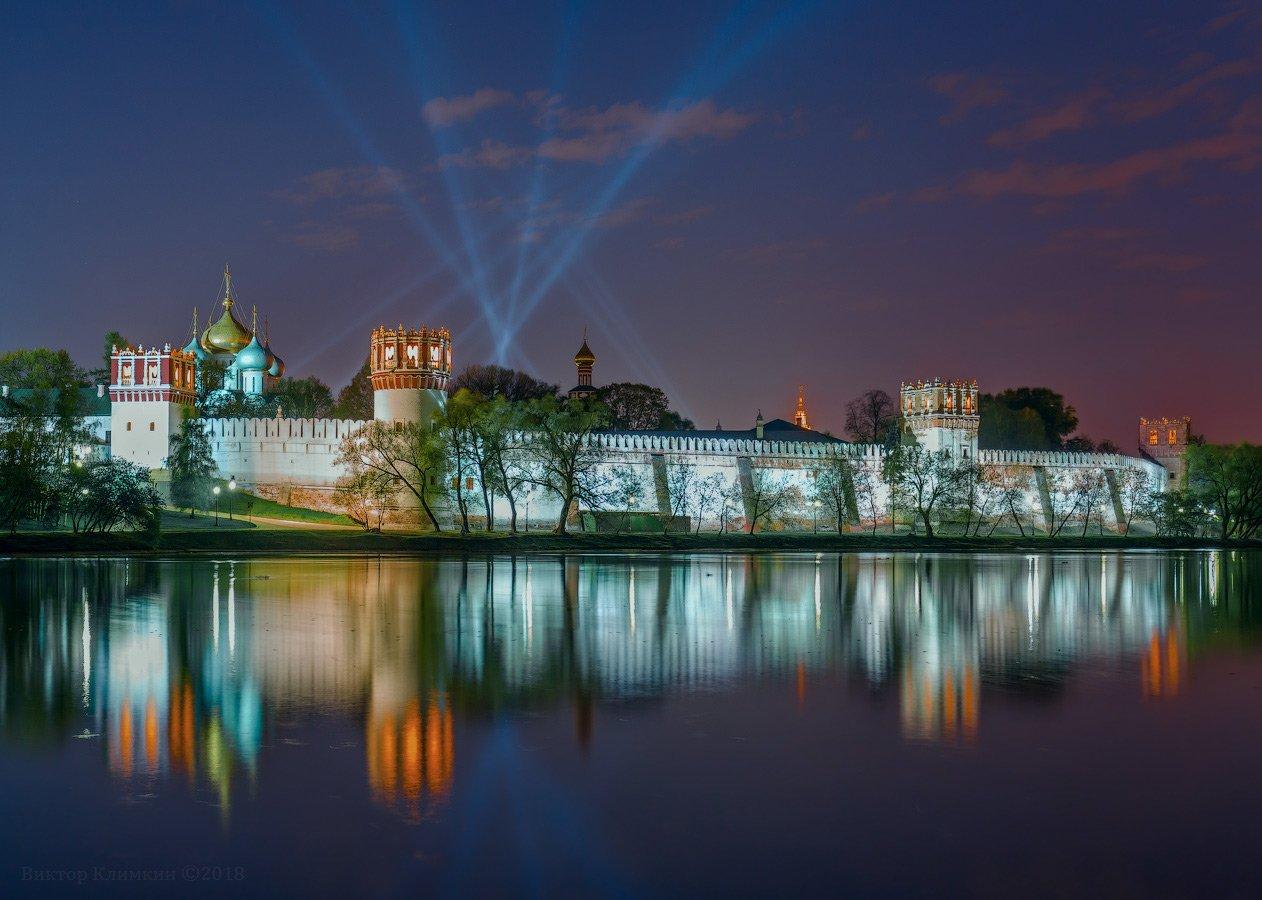 новодевичий, монастырь, вечер, пруд, москва, Виктор Климкин