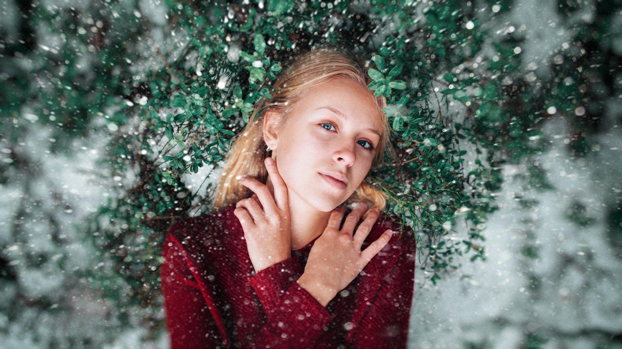 art,девушка ,снег,girl, Hromenkov Kostya