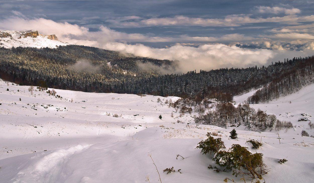 горы, кавказ, лаго-наки, зима, гузерипль, Фёдор