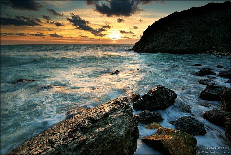 пейзаж, море, крым, фотография, закат,, Игорь