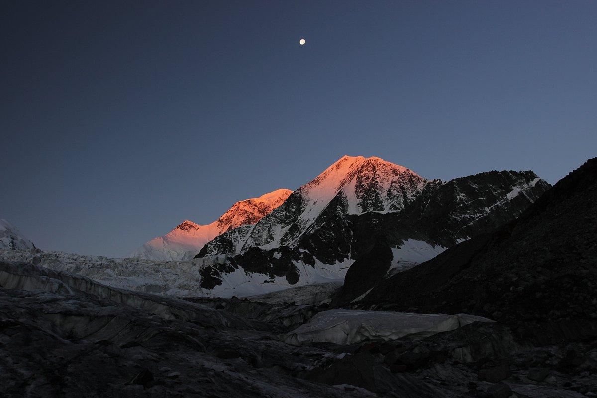 ледник менсу, ледник сапожникова, белуха, делоне, алтай, Artem