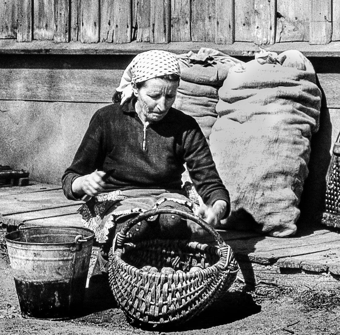 деревня, весна, сев, Rimantas Petrikas