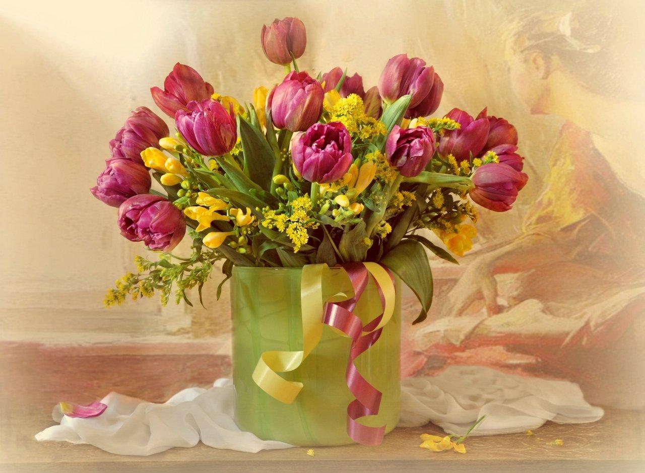 весна март цветы букет  праздник натюрморт, Марина Орлова