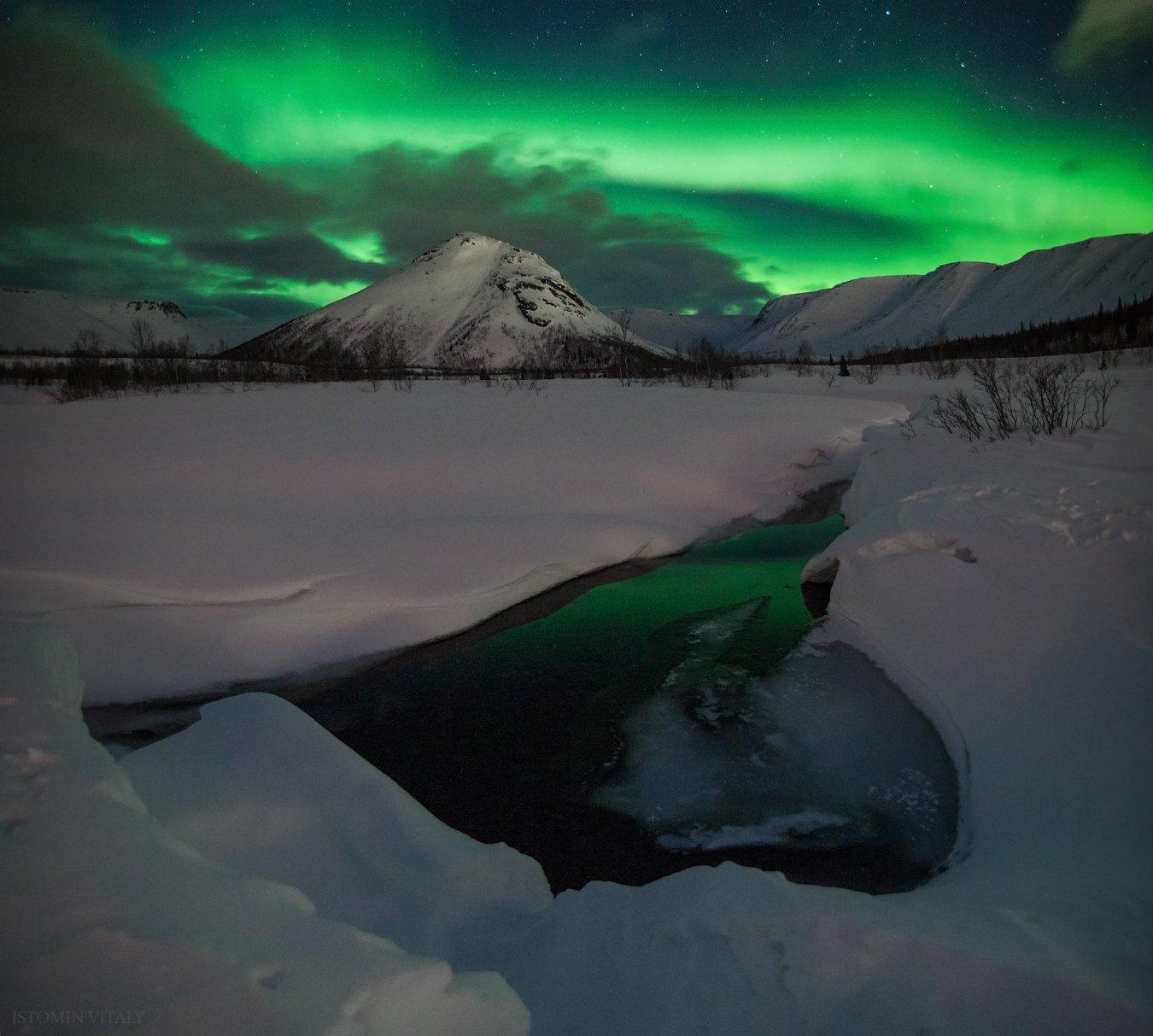 пейзаж,горы,россия,отражение,звезды,ночь,вода,весна,небо,просторы, Истомин Виталий