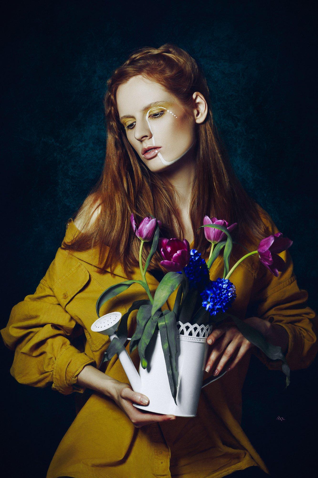 woman, portrait, studio, art, Руслан Болгов (Axe)