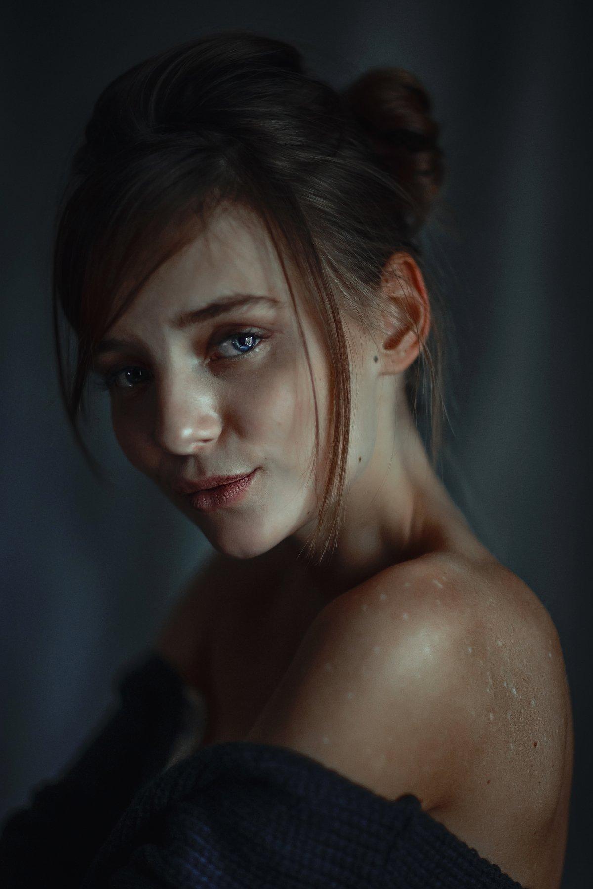 portait girl model eyes brunnete bokeh, Салават Халиков
