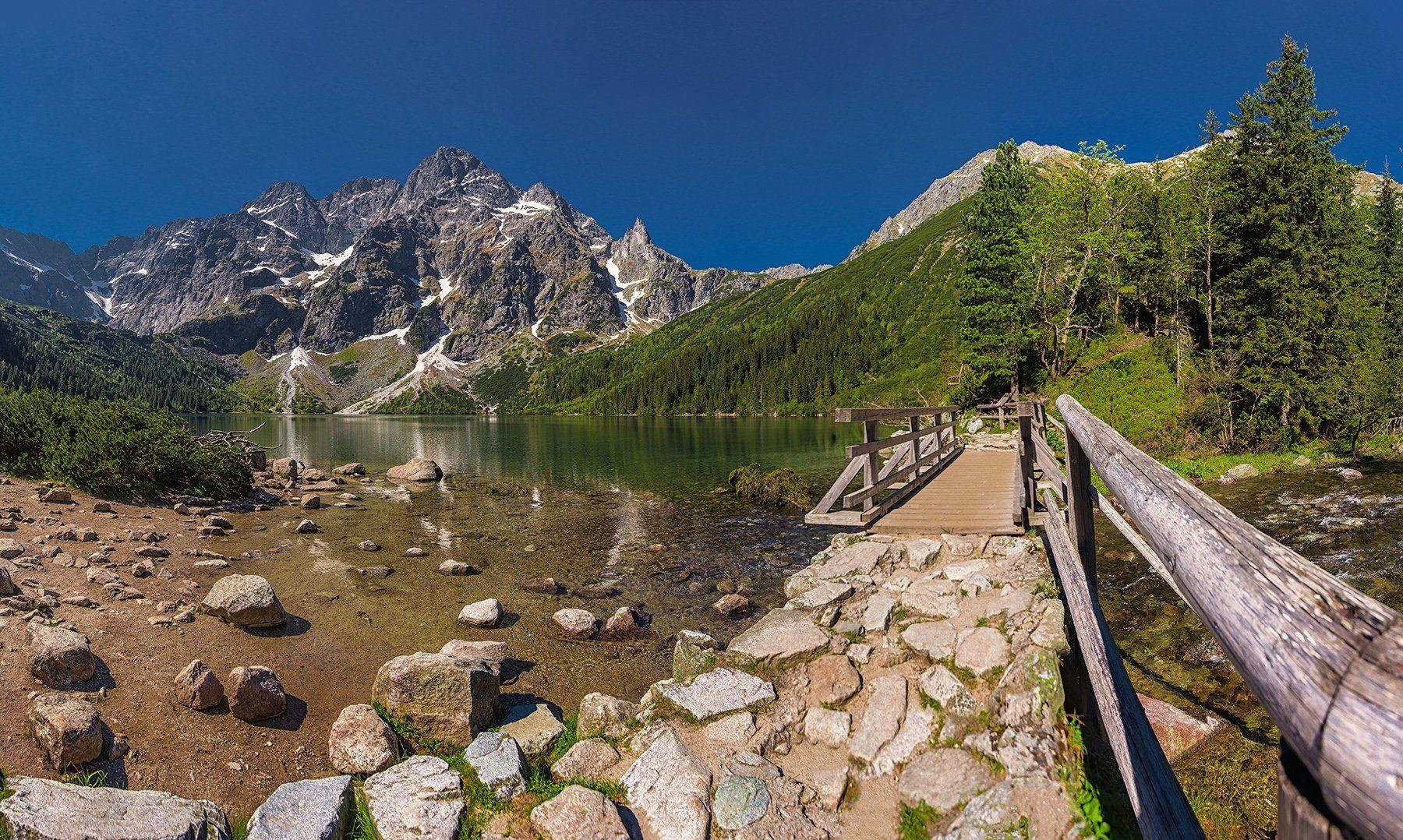 Tatra, eye of the sea, lake, mountains, mountain, Poland, trekking, summer, , Patrycja