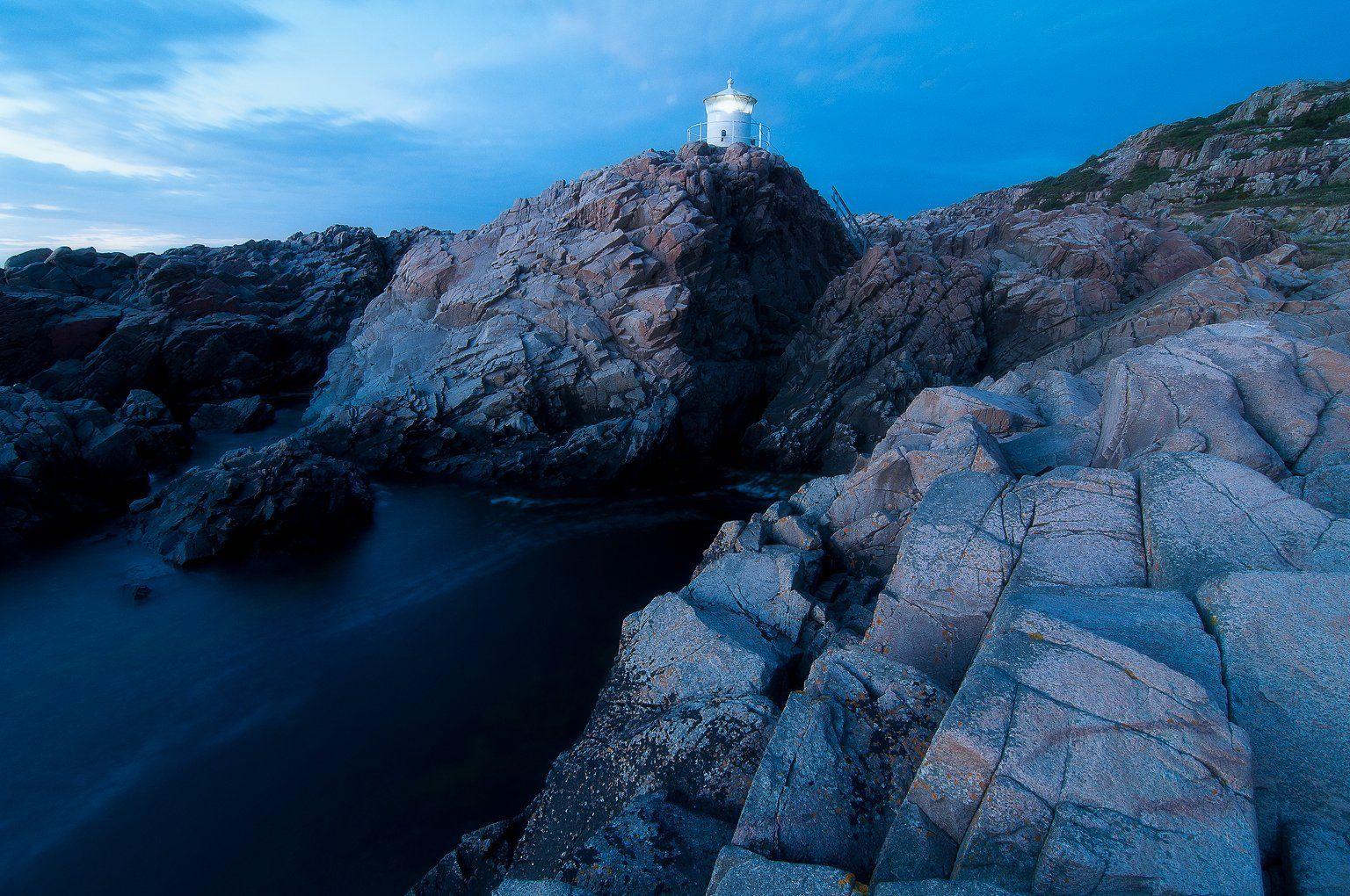 kullaberg, sweden, bluehour, scandinavia, lighthouse, Csomai Dávid