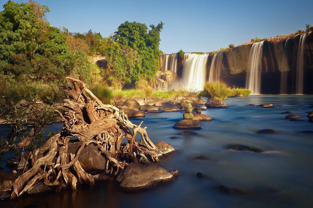 dray nur, waterfall, vietnam,  dak lak, nisi,, Soft Light