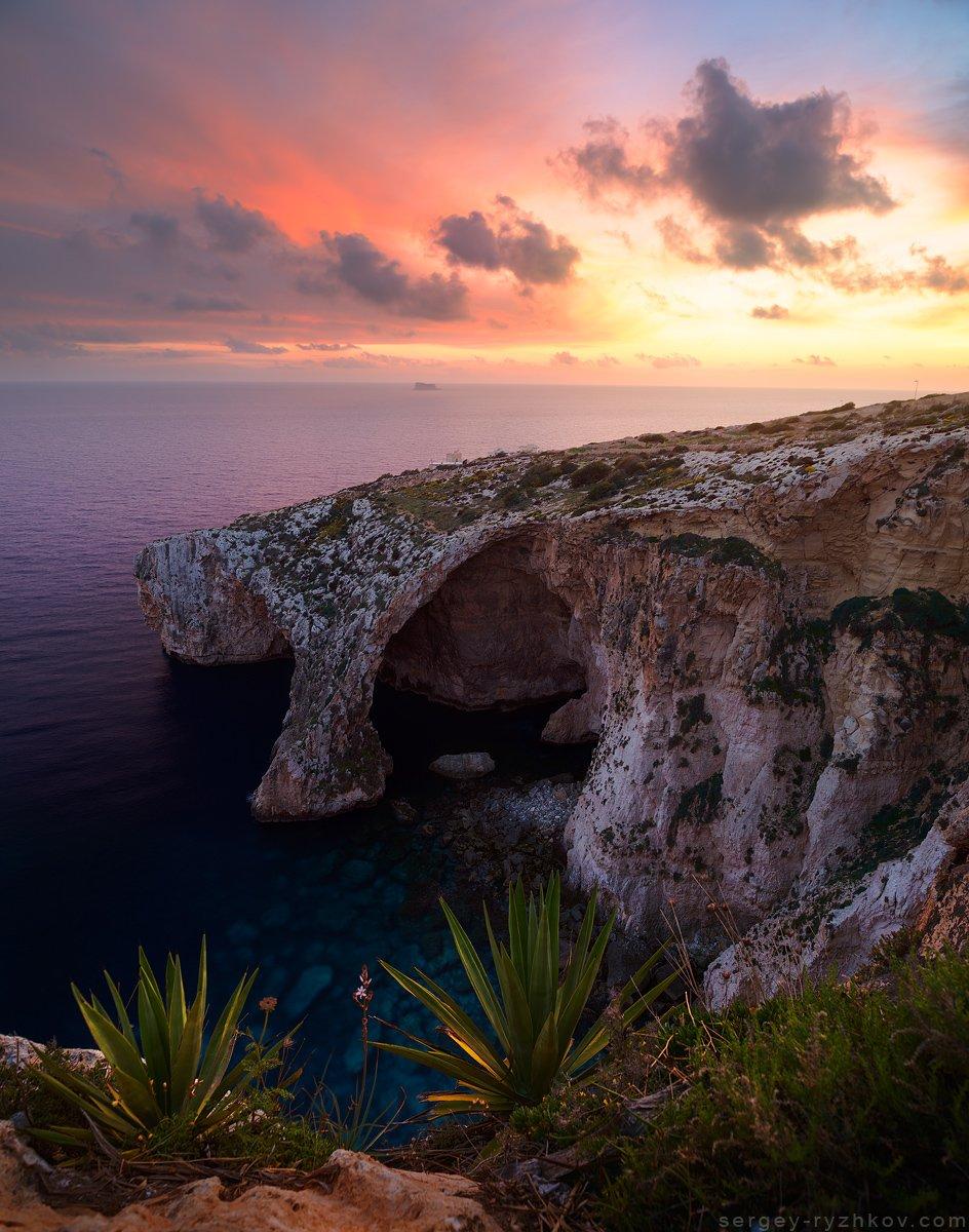 мальта, пейзаж, природа, море, средиземное море, nature, malta, blue grotto, sea, landscape, seascape,, Сергей Рыжков