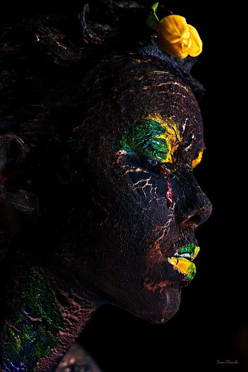 люди, портрет, арт, фейсарт, бодиарт, земля, мир, слеза, война, пепел, жизнь, фотокузница, ivankovale, Ковалёв Иван