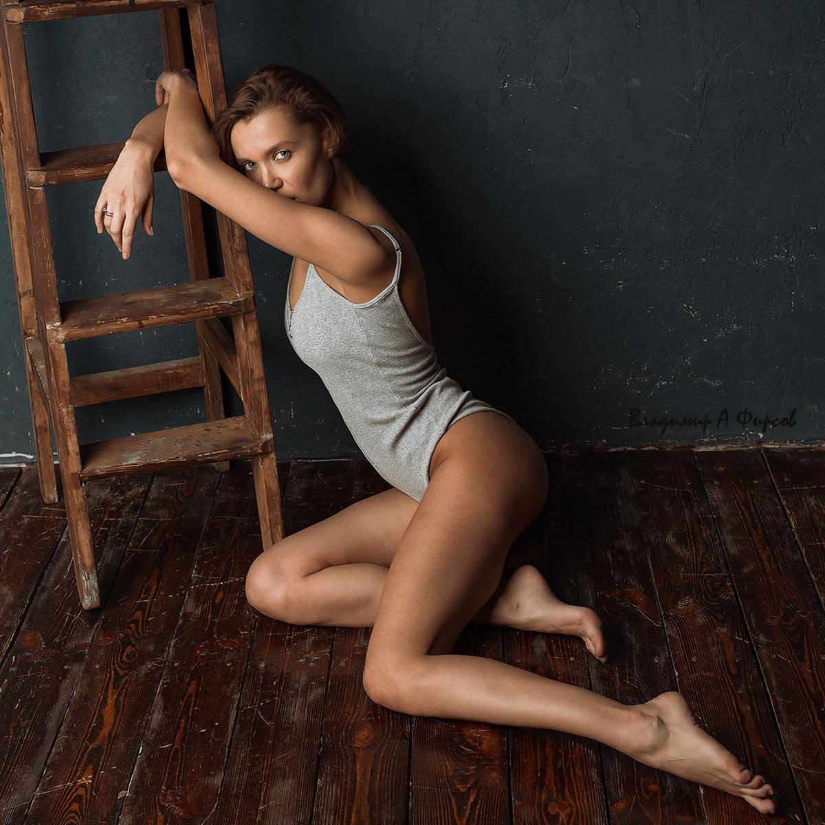 портрет, жанр, девушка, боди, студия, Владимир Фирсов