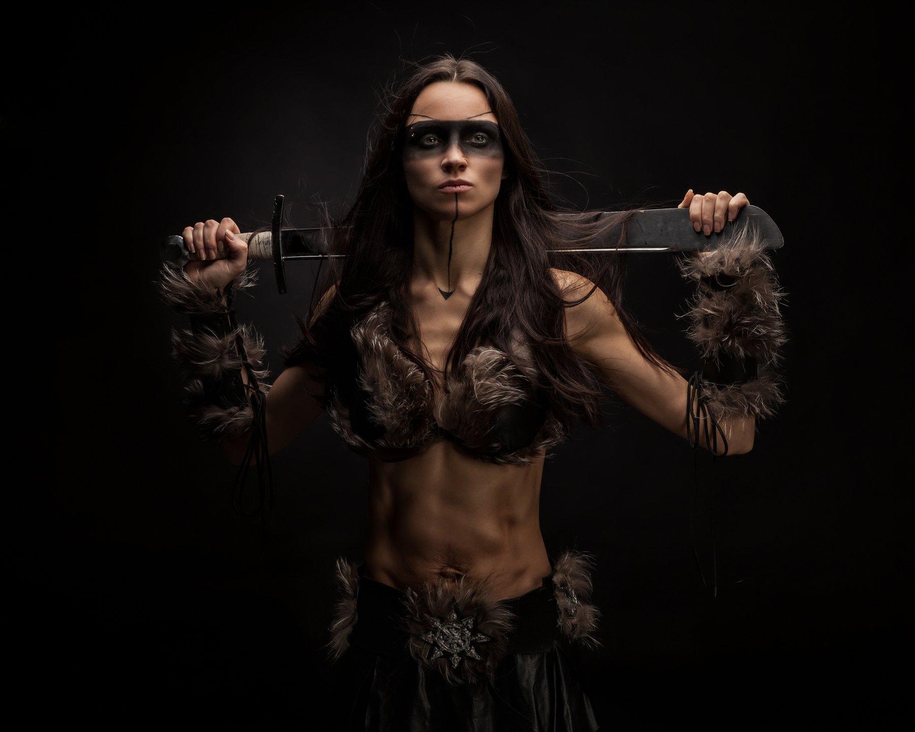 тира, госпожа, мародёров, хаоса, неделимого, фэнтези, девушка, меч, warhammer, Шипов Олег