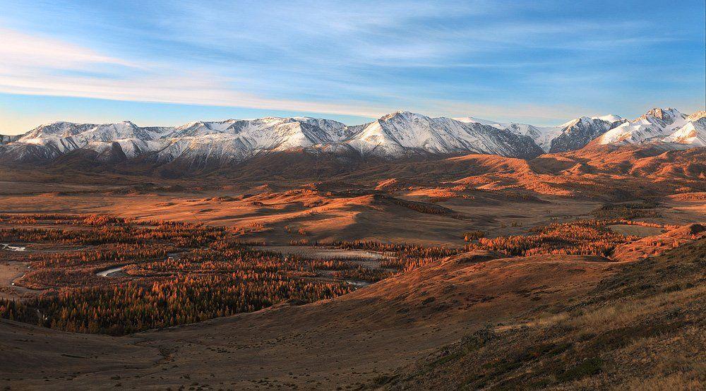 природа, пейзаж, алтай, горы, утро, рассвет, Sokolova Tatiana