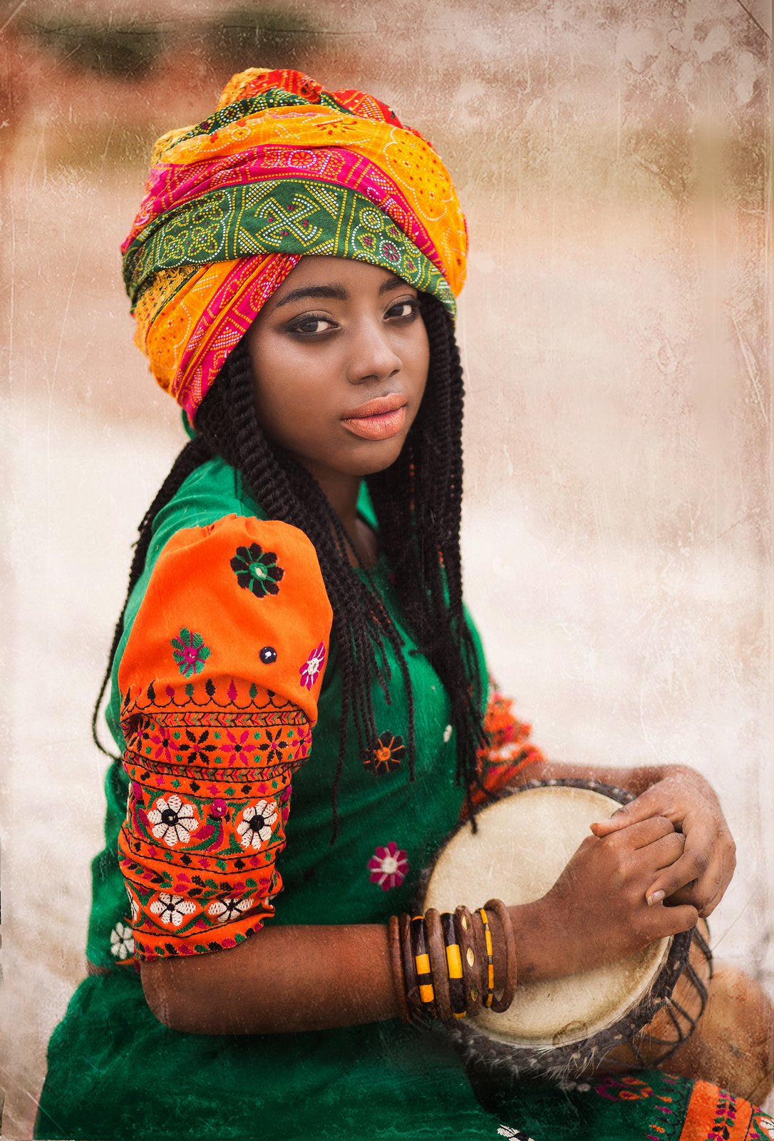 африканка, африка, девушка, барабаны, красавица, чернокожая, Биличенко Оксана