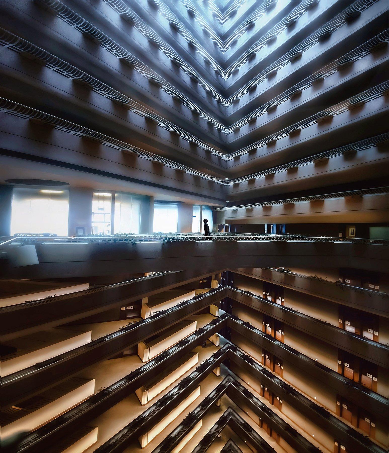 симметрия, архитектура, атриум, сингапур, Алексей Ермаков