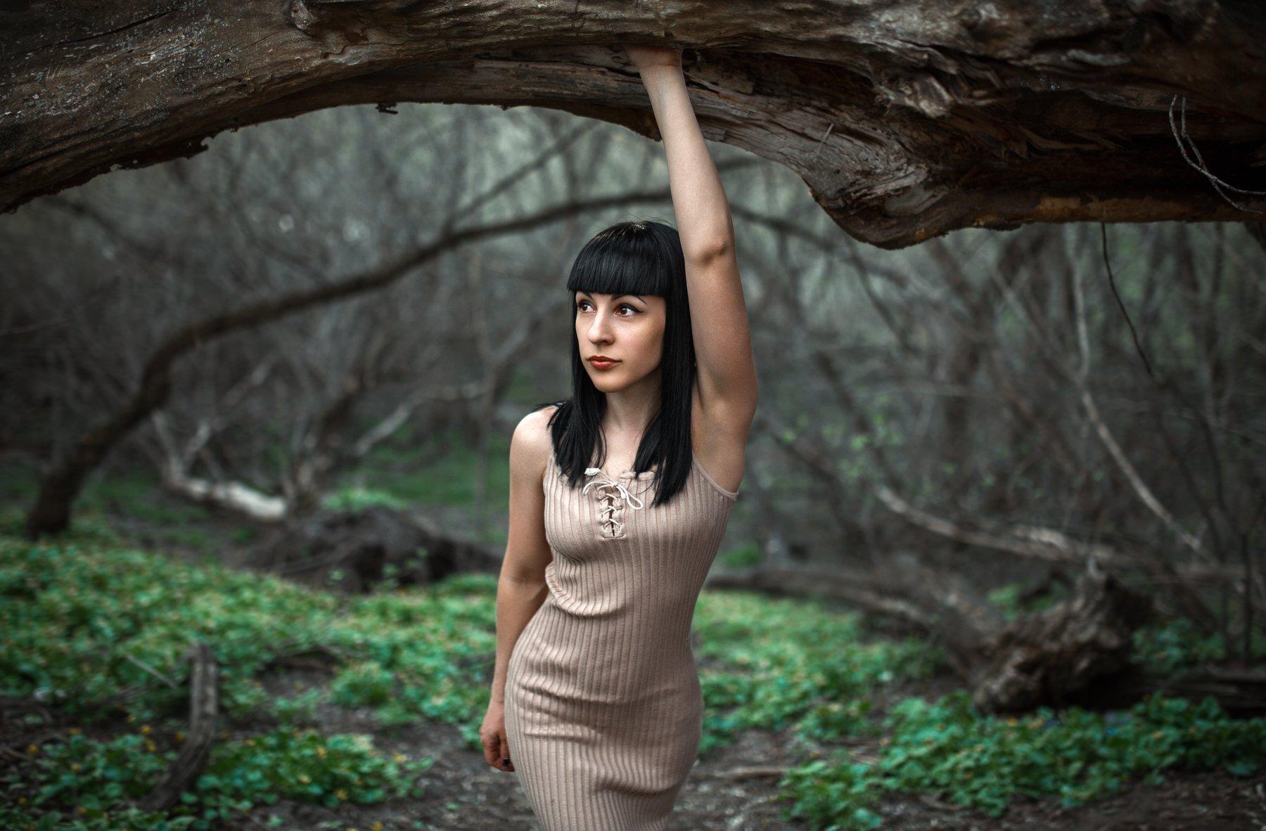 лес, прогулка, портрет, в лесу,, Маховицкая Кристина