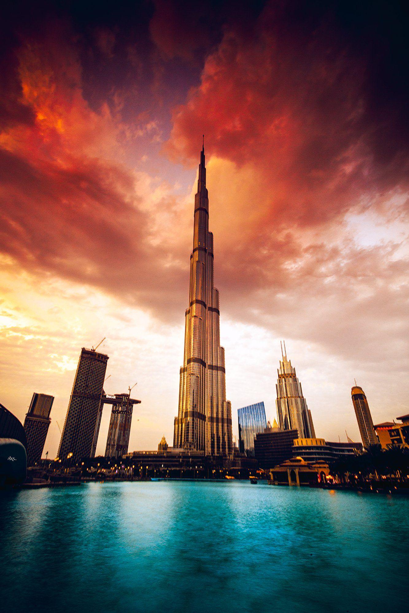 dubai, burj khalifa, sunset, cityscape, Руслан Болгов (Axe)