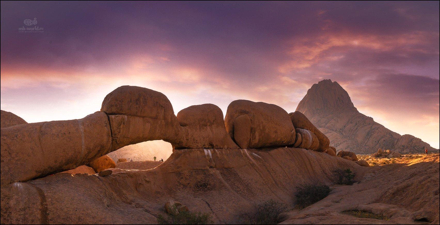 Намибия, пейзаж, закат, парк, Михаил Воробьев