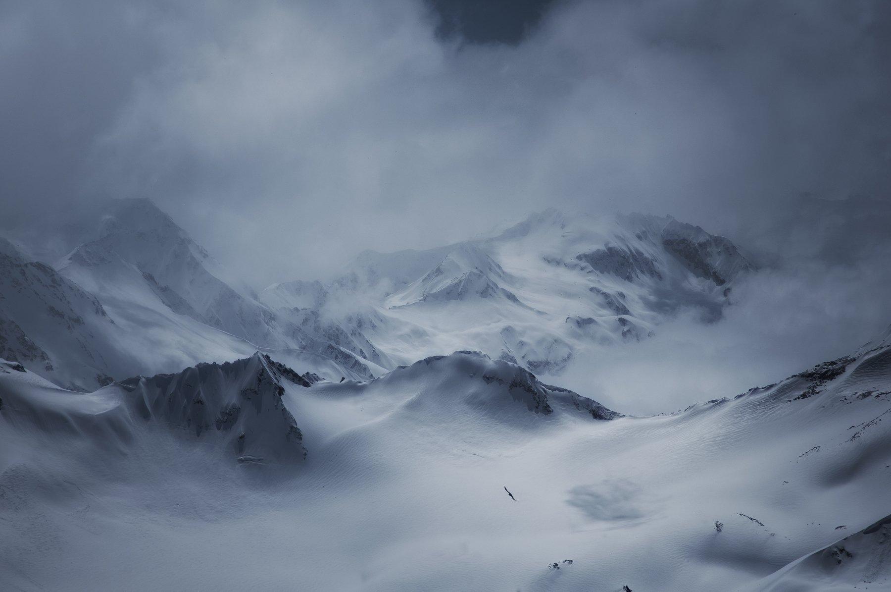 кавказ, горы, туман, путешествия, fog, mountains, travels, Алексей Сергованцев