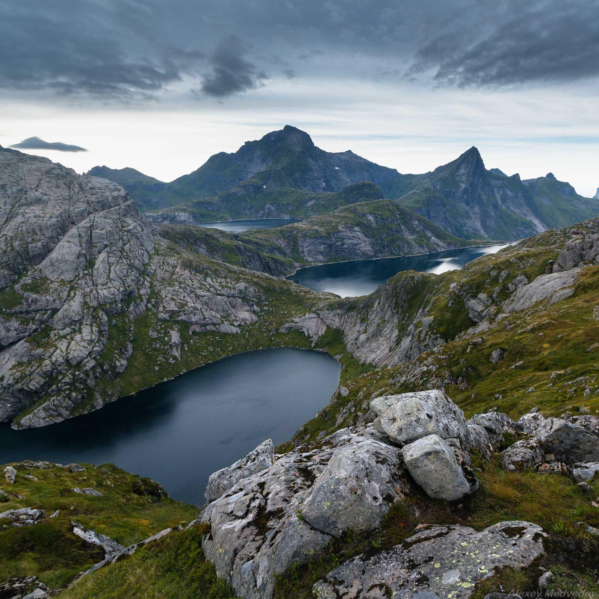 лофотены, Норвегия, пляж, море, север, острова, скалы, панорама, Алексей Медведев