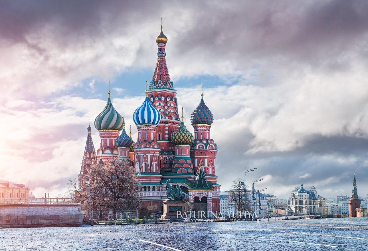 москва, собор василия блаженного, утро, красная площадь, Юлия Батурина