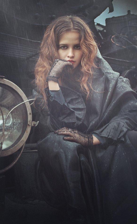 конечная, локомотив, поезд, дождь, непогода, плащ, станция, приехали,, Tatyana Forever