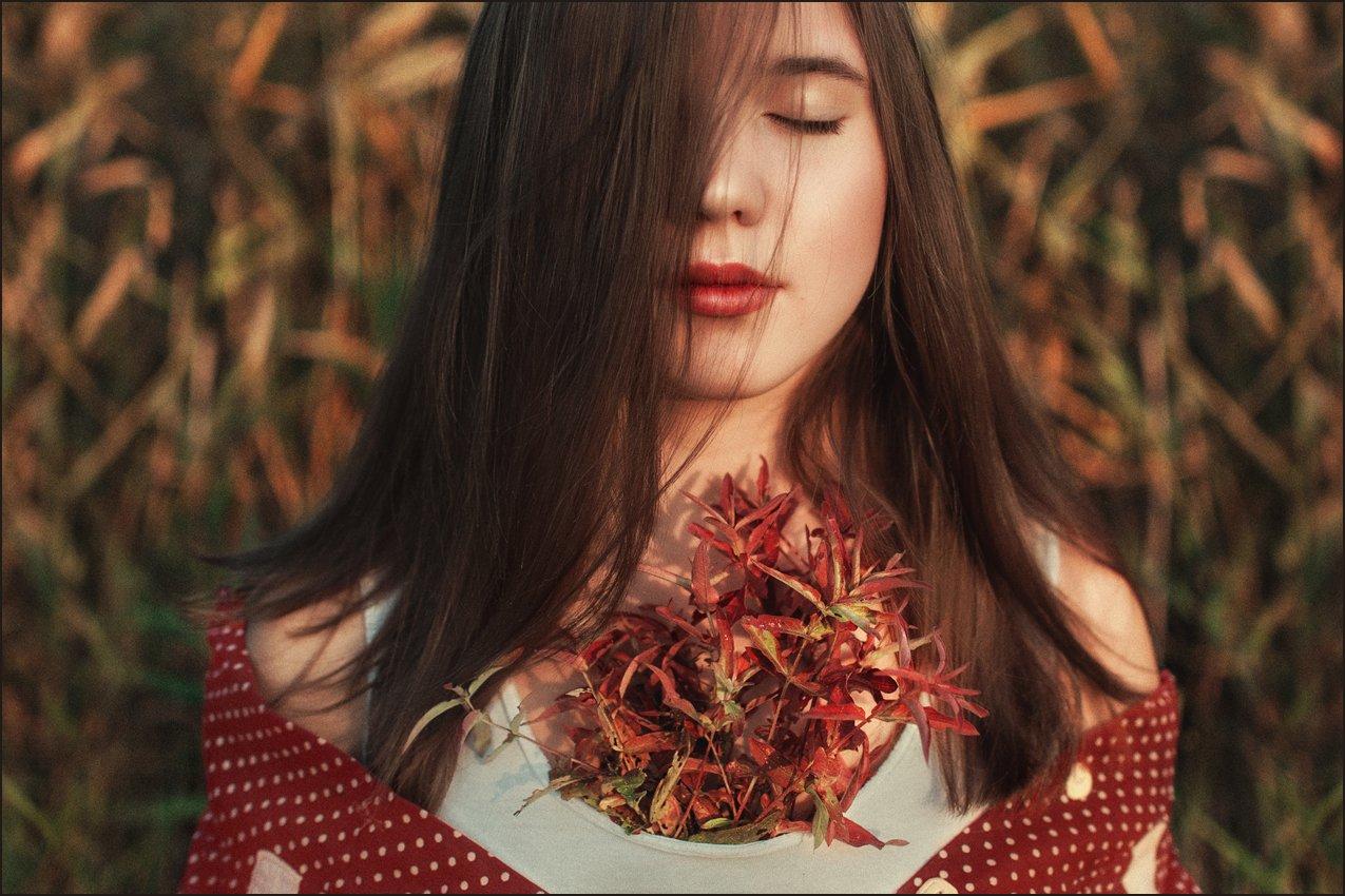 девушка, портрет, girl, portrait, Tiana Karpunina