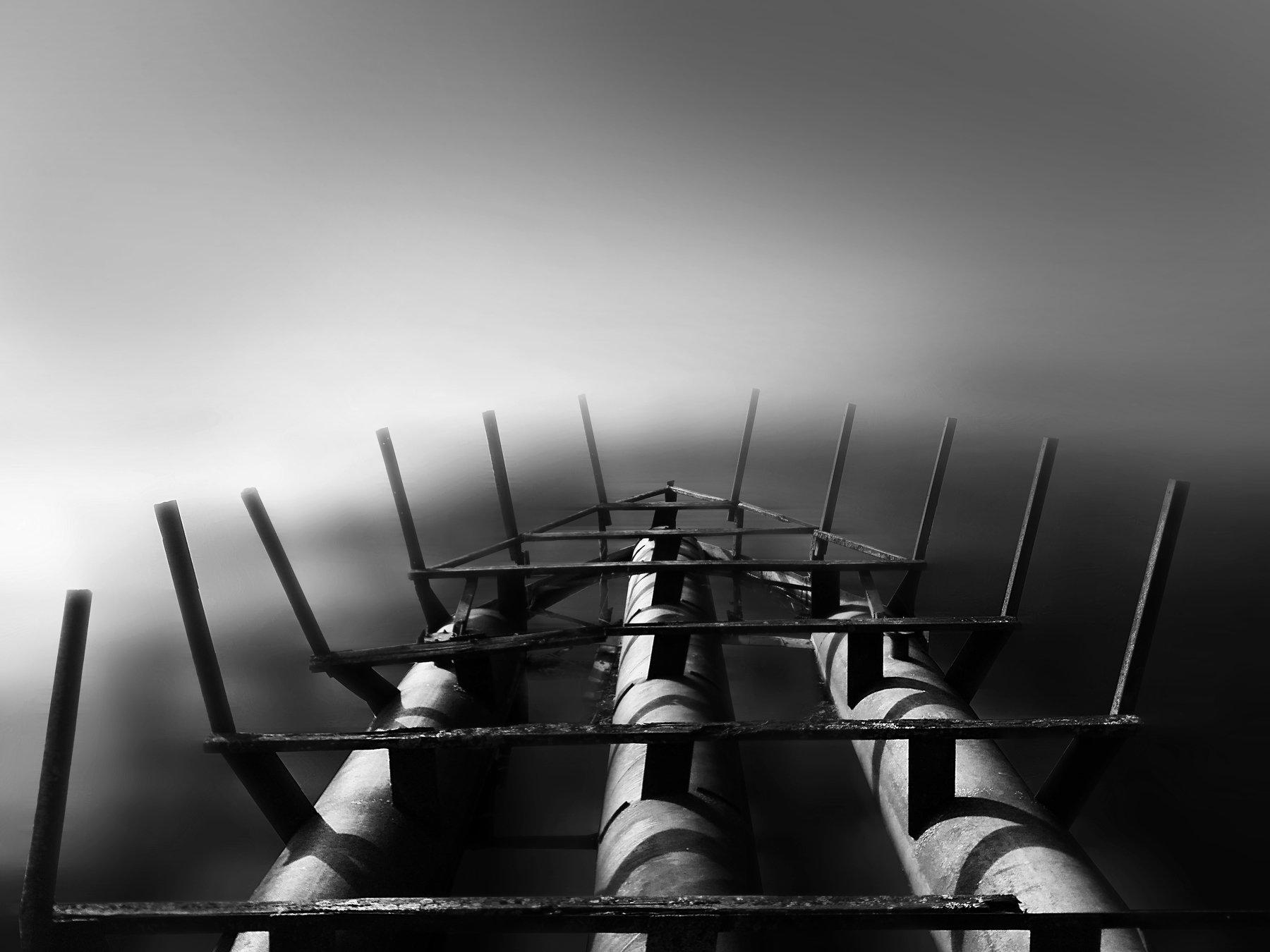 на берегу лосвидо, черно-белое, чб, черное и белое, выдержка, длинная выдержка, помолейко, on the shore of losvido,long exposure, black and white, bnw, b&w, pomoleyko, Павел Помолейко