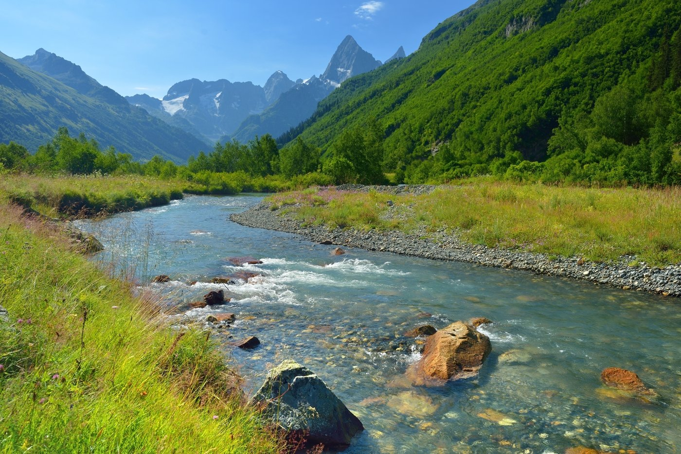 горы лето река гоначхир, Александр Жарников